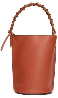 Loewe Gate Leather Bucket Bag - Womens - Brown