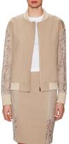 Thomas Wylde Pine Cotton Lace Contrast Jacket