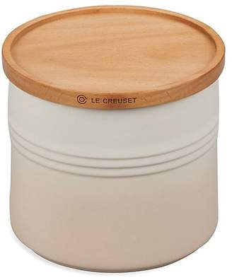 Le Creuset 1.5-Quart Stoneware Canister with Wood Lid