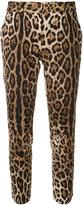 Dolce & Gabbana cropped leopard print trousers