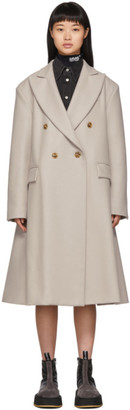 MM6 MAISON MARGIELA Beige Wool Double-Breasted Coat