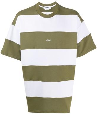 MSGM oversized striped T-shirt