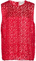 Maison Rabih Kayrouz textured tank top - women - Silk/Viscose - 38