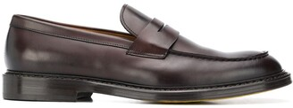 Doucal's Tone-On-Tone Gusset Penny Loafers