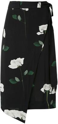 OSKLEN Rose Glitch wraparound skirt