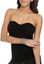 Wet Seal WetSeal Twisted Bust Tube Top Charcoal