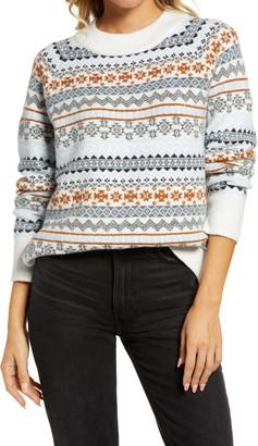 Treasure & Bond Fair Isle Crewneck Sweater