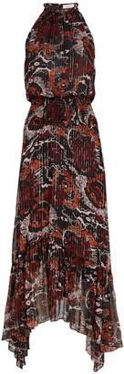 A.L.C. Bardot Pleated Asymmetrical Dress