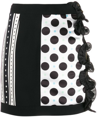 Emanuel Ungaro Pre Owned Polka Dot Mini Skirt