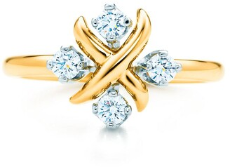 Tiffany & Co. Schlumberger Lynn ring in 18k gold with diamonds in platinum