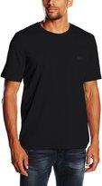 HUGO BOSS Premium Crew-Neck Stretch Cotton Men's T-Shirt, Black Large