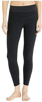 Beyond Yoga Maternity Empire Waisted Capri Leggings (Black/White Spacedye) Women's Casual Pants