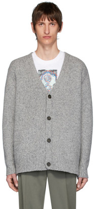Acne Studios Grey Cashmere Relaxed Kabelo Cardigan