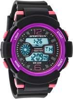 Sportech Women's | Classic Black & Pink Digital Water Resistant Sport Watch | SP12002