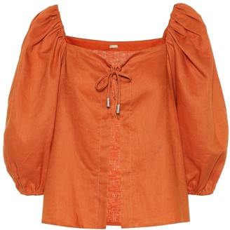 Cult Gaia Aurel linen top