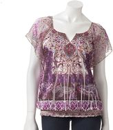 Apt. 9 scroll sublimation top