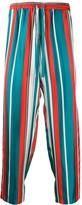 Pierre Louis Mascia striped silk track trousers