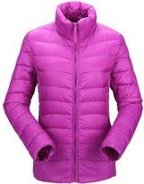 Pink Queen Womens Winter Solid Lightweight Thin Slim Short Duck Down Jacket Coat
