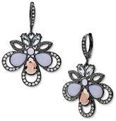 Jenny Packham Crystal & Rose Opal Earrings- Size 1.5in