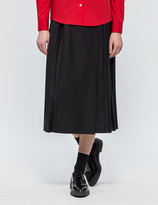 MAISON KITSUNÉ Michele Pleated Midi Skirt