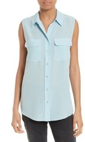 Equipment Women's 'Slim Signature' Sleeveless Silk Shirt