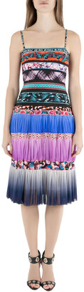 Jean Paul Gaultier Soleil Multicolor Digital Print Tiered Cami Dress XS