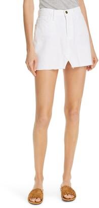 Frame Cutoff Denim Miniskirt