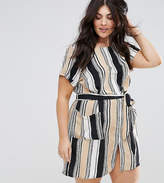 AX Paris Plus Stripe Shift Dress With Belt