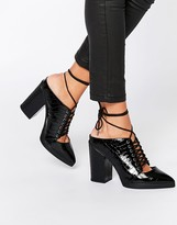 Asos OVERHEARD Lace Up Mules