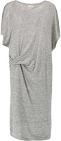 By Malene Birger Tatian draped slub linen-jersey midi dress