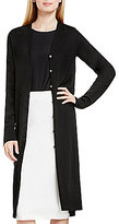 Vince Camuto Button Front V-Neck Maxi Cardigan