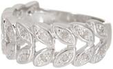Savvy Cie White Diamond Leaf Band - 0.10 ctw
