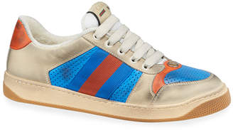 Gucci Men's Distressed Leather Sneakers