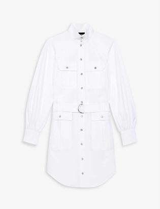 The Kooples Safari-style cotton midi dress