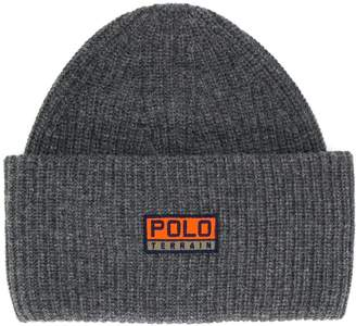 Polo Ralph Lauren logo patch knitted hat