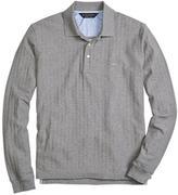Brooks Brothers Original Fit Long-Sleeve Herringbone Polo Shirt