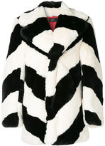 G.V.G.V. striped oversized coat