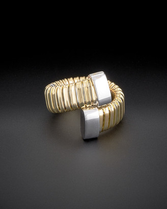Italian Gold 18K Two-Tone Adjustable Ring