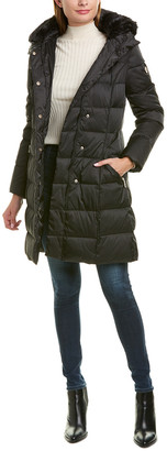 Tahari Long Down Coat