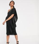 Asos DESIGN Maternity one shoulder cape midi dress