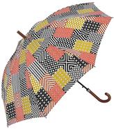 Yellow & Gray Patchwork Walking Umbrella