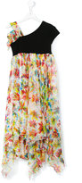 Junior Gaultier floral print dress - kids - Polyester/Viscose - 16 yrs