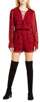 BCBGeneration Printed Lace-Up Romper