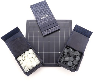 Christian Dior Checkers Board Game Set Wood and Stone
