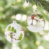 Crate & Barrel Skating Reindeer Ball Ornaments