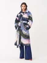Diane von Furstenberg Patina Oversized Trench Coat