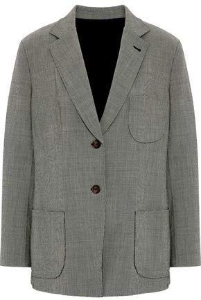 Giorgio Armani Houndstooth Stretch Wool-Blend Blazer