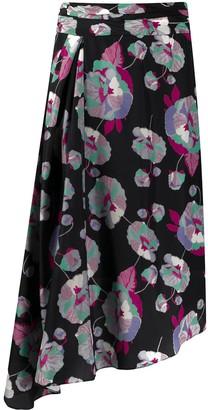Isabel Marant Javenia floral-print silk skirt