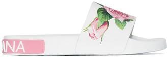 Dolce & Gabbana rose printed pool slides