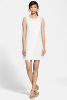 Rebecca Taylor Fringe Crepe Shift Dress